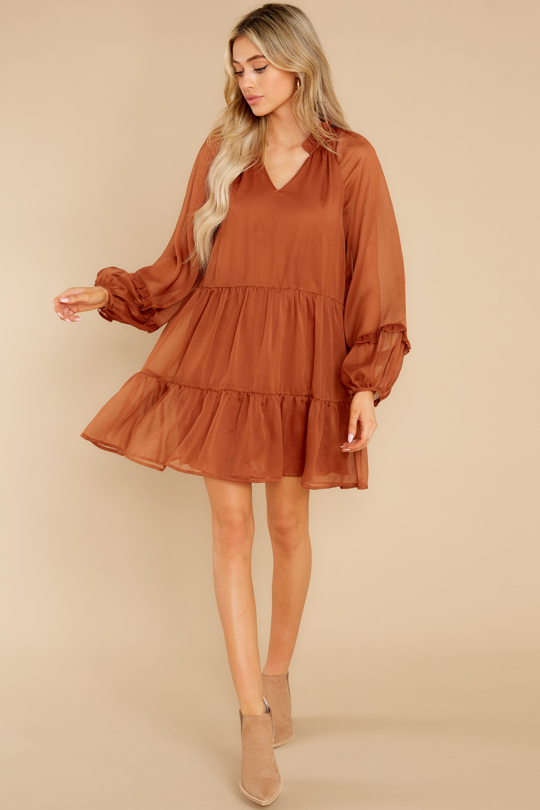 2 Dare To Remember Golden Brown Dress at reddress.com