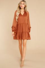 3 Dare To Remember Golden Brown Dress at reddress.com