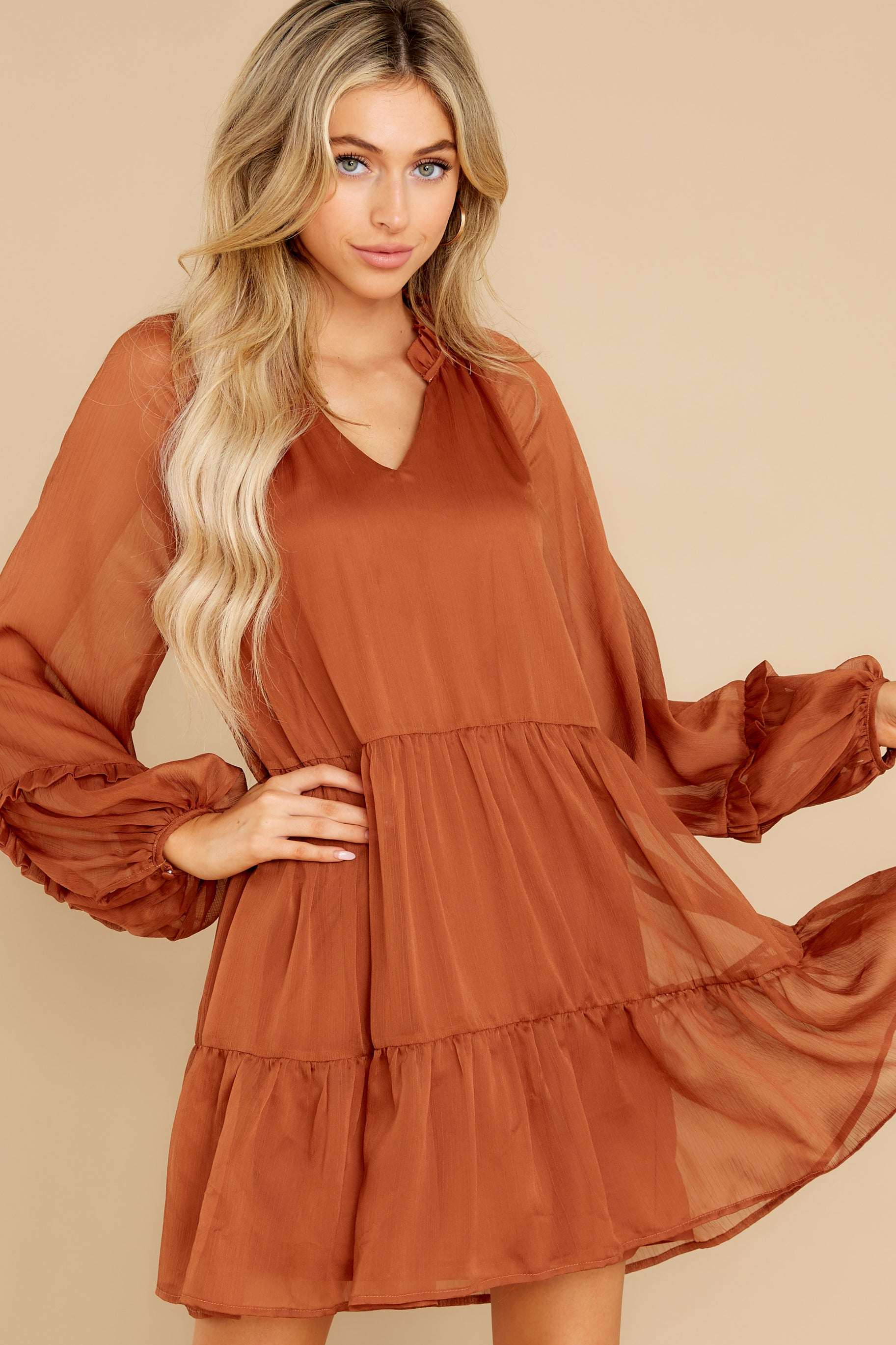 1 Dare To Remember Golden Brown Dress at reddress.com