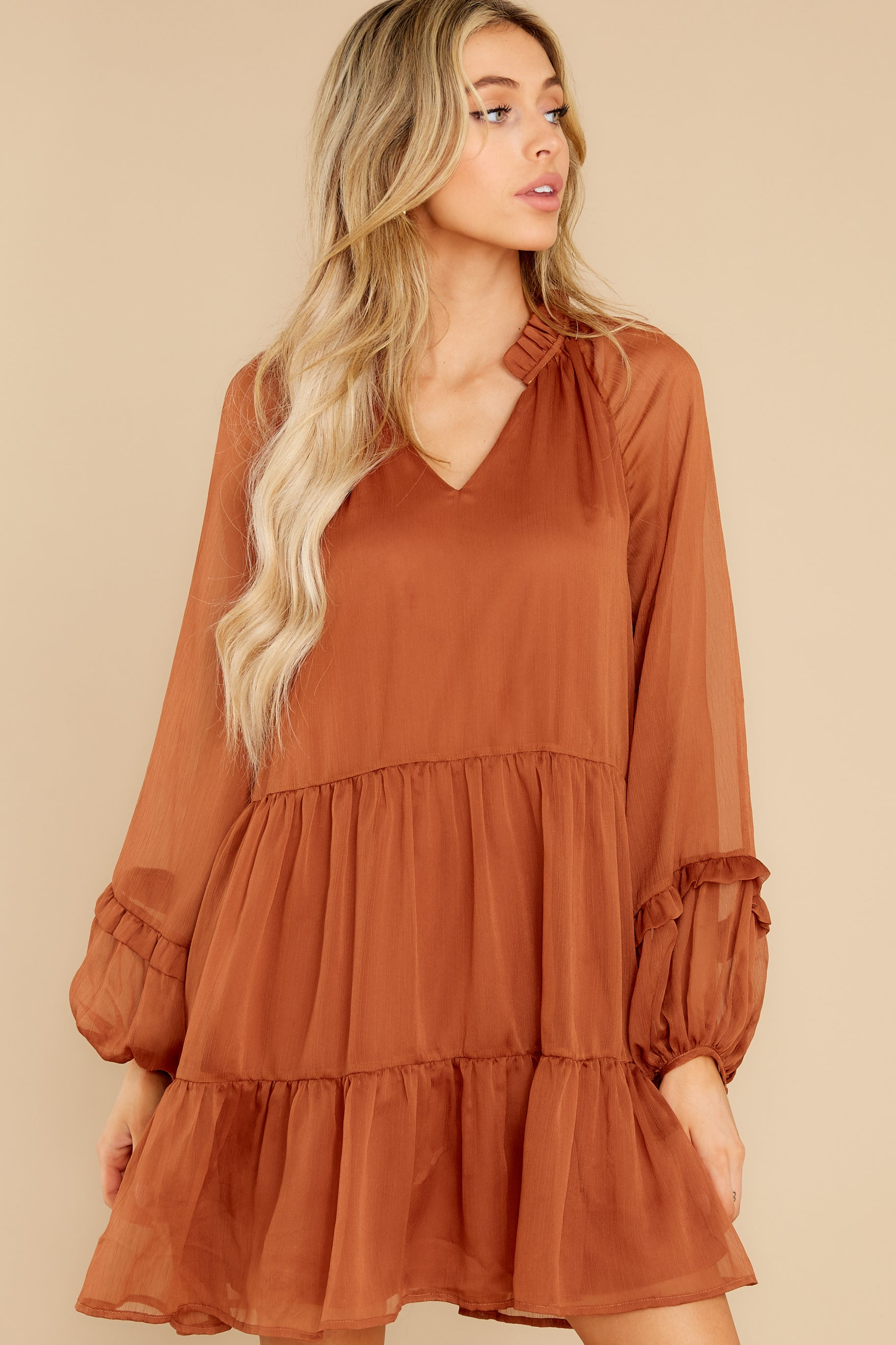 5 Dare To Remember Golden Brown Dress at reddress.com