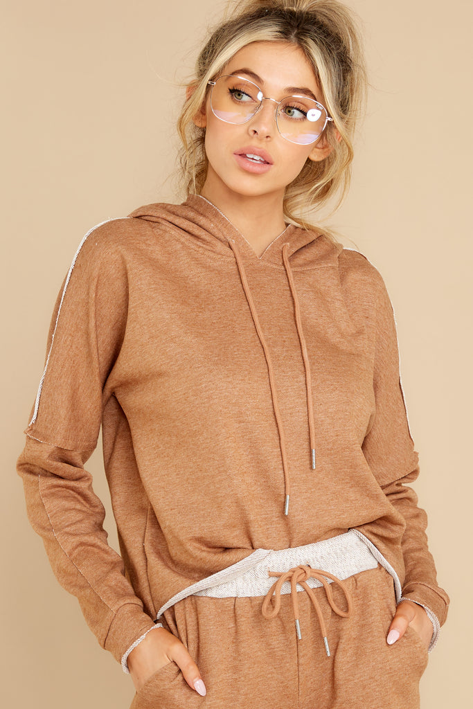 5 In The Leaves Mocha Hoodie at reddress.com