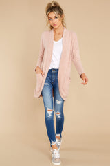 3 Kaye Silver Pink Feather Cardigan at reddress.com