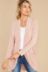 5 Kaye Silver Pink Feather Cardigan at reddress.com