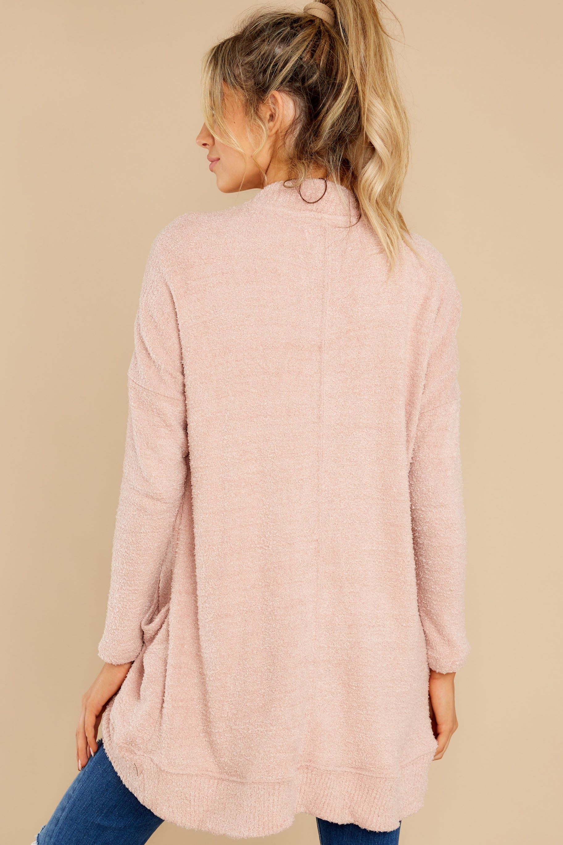 7 Kaye Silver Pink Feather Cardigan at reddress.com