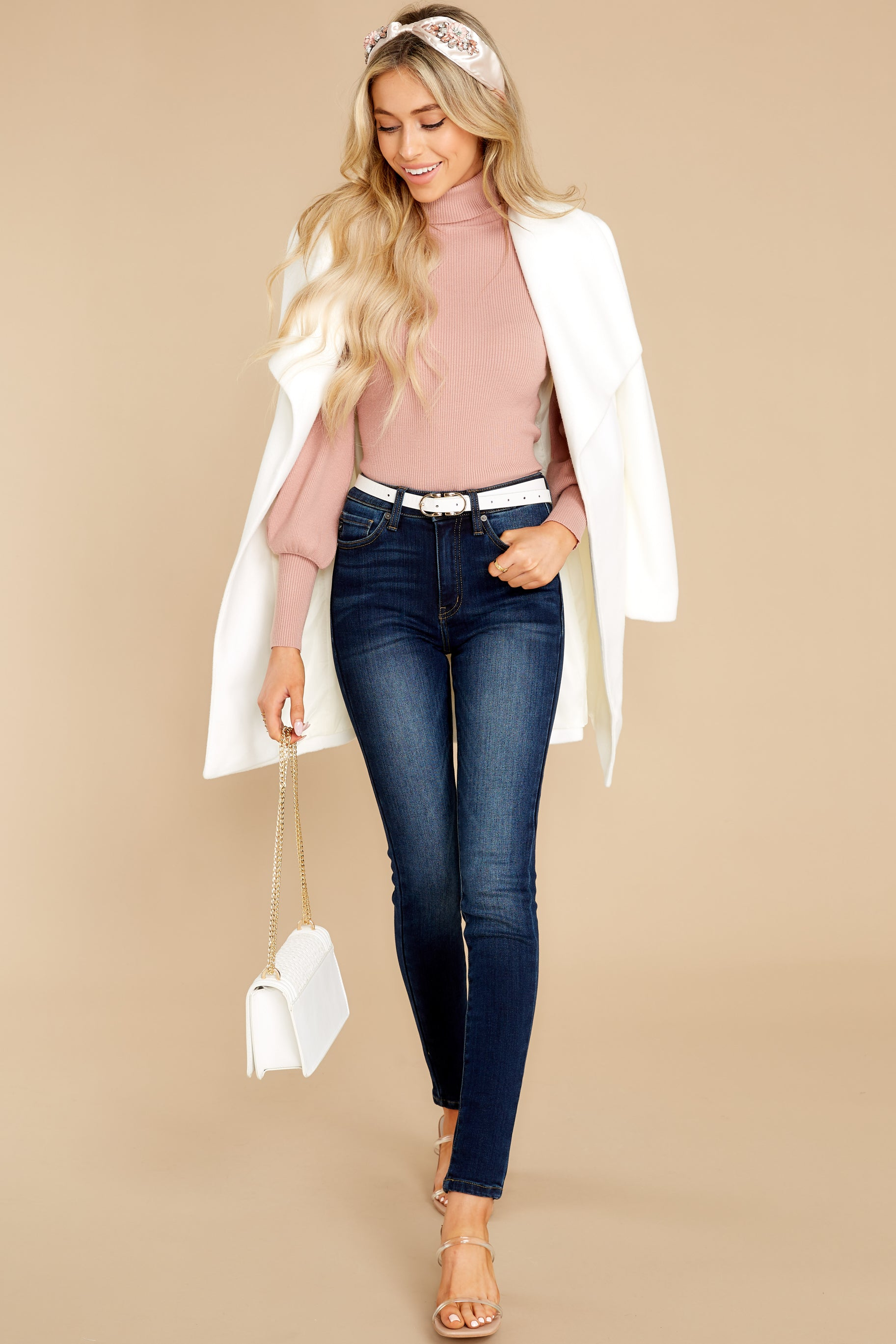 2 Waiting On Forever Mauve Blush Sweater at reddress.com