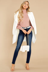 3 Waiting On Forever Mauve Blush Sweater at reddress.com