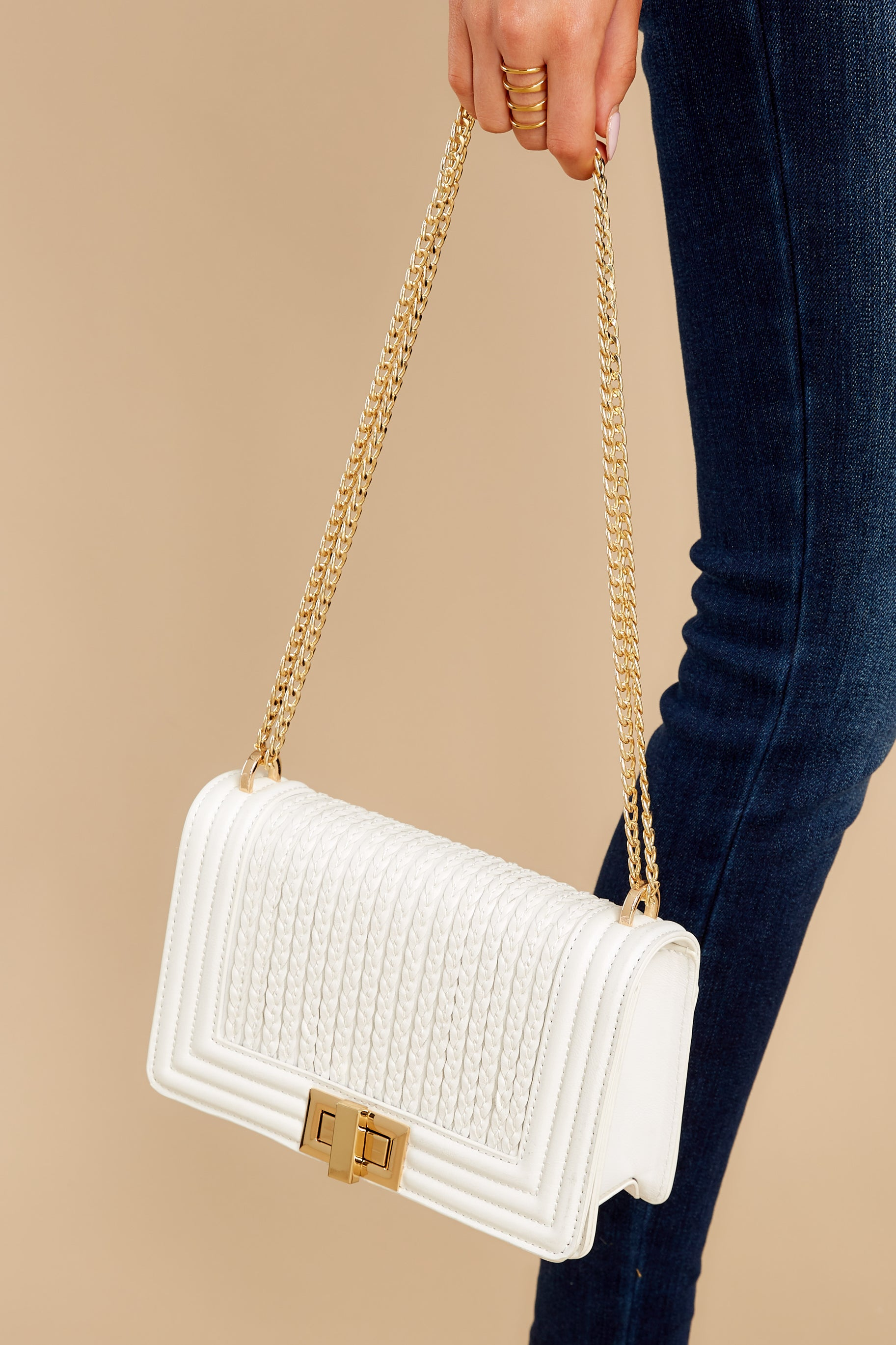 2 Hidden Treasure White Bag at reddress.com