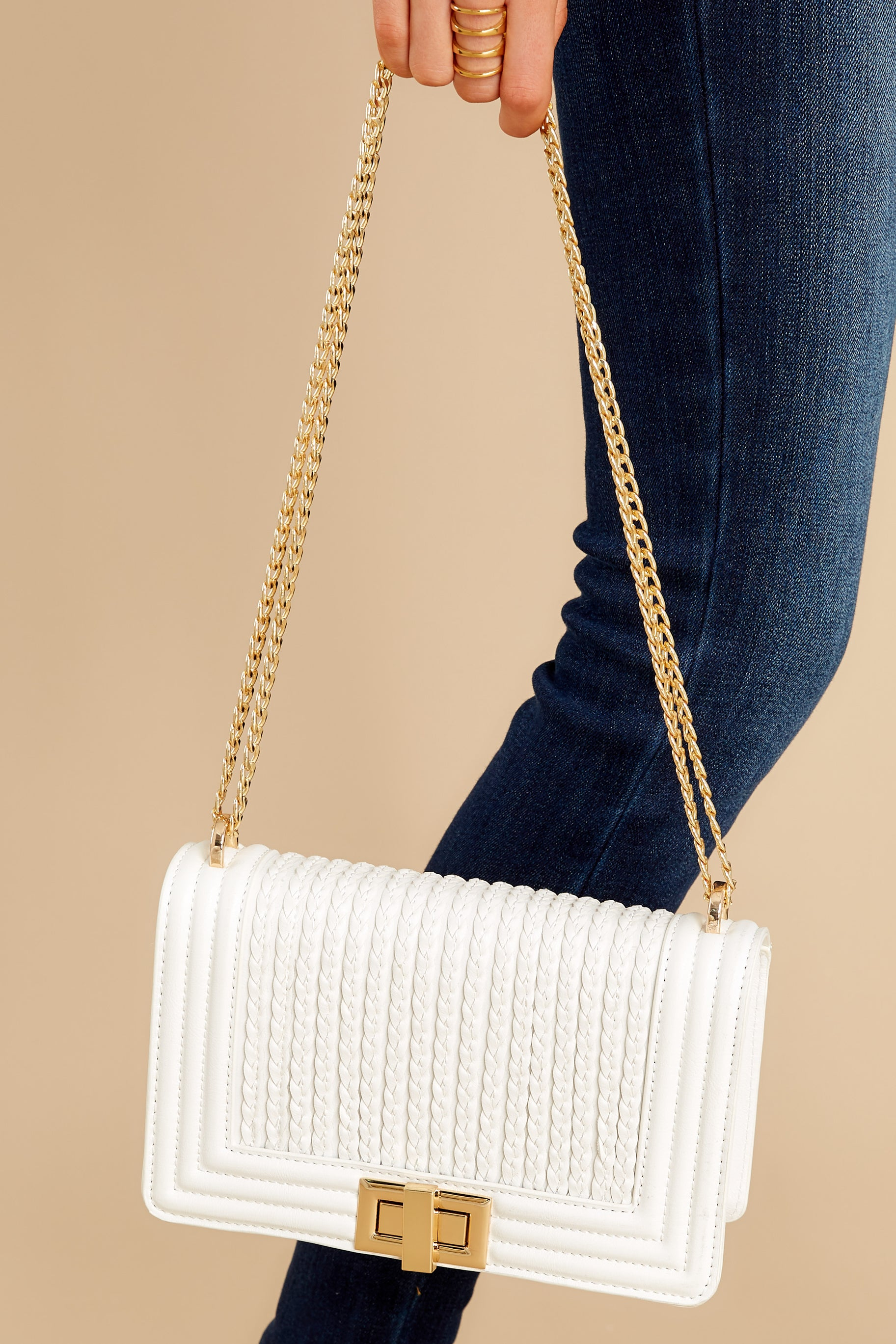 1 Hidden Treasure White Bag at reddress.com