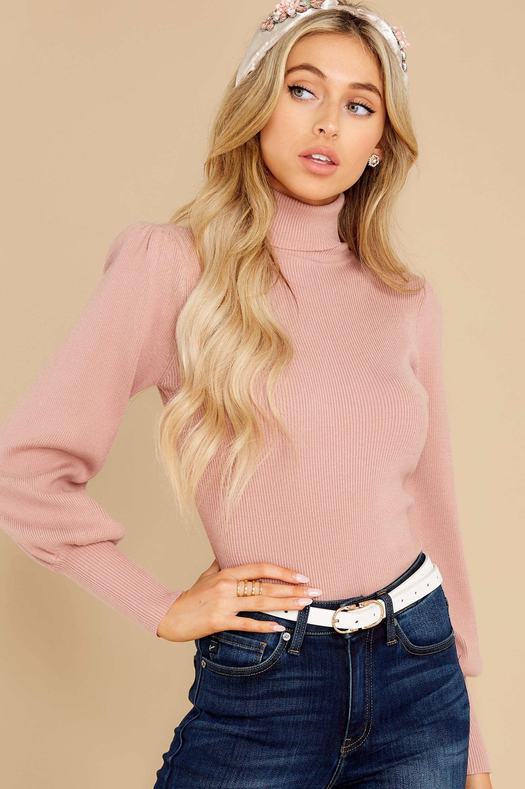 6 Waiting On Forever Mauve Blush Sweater at reddress.com