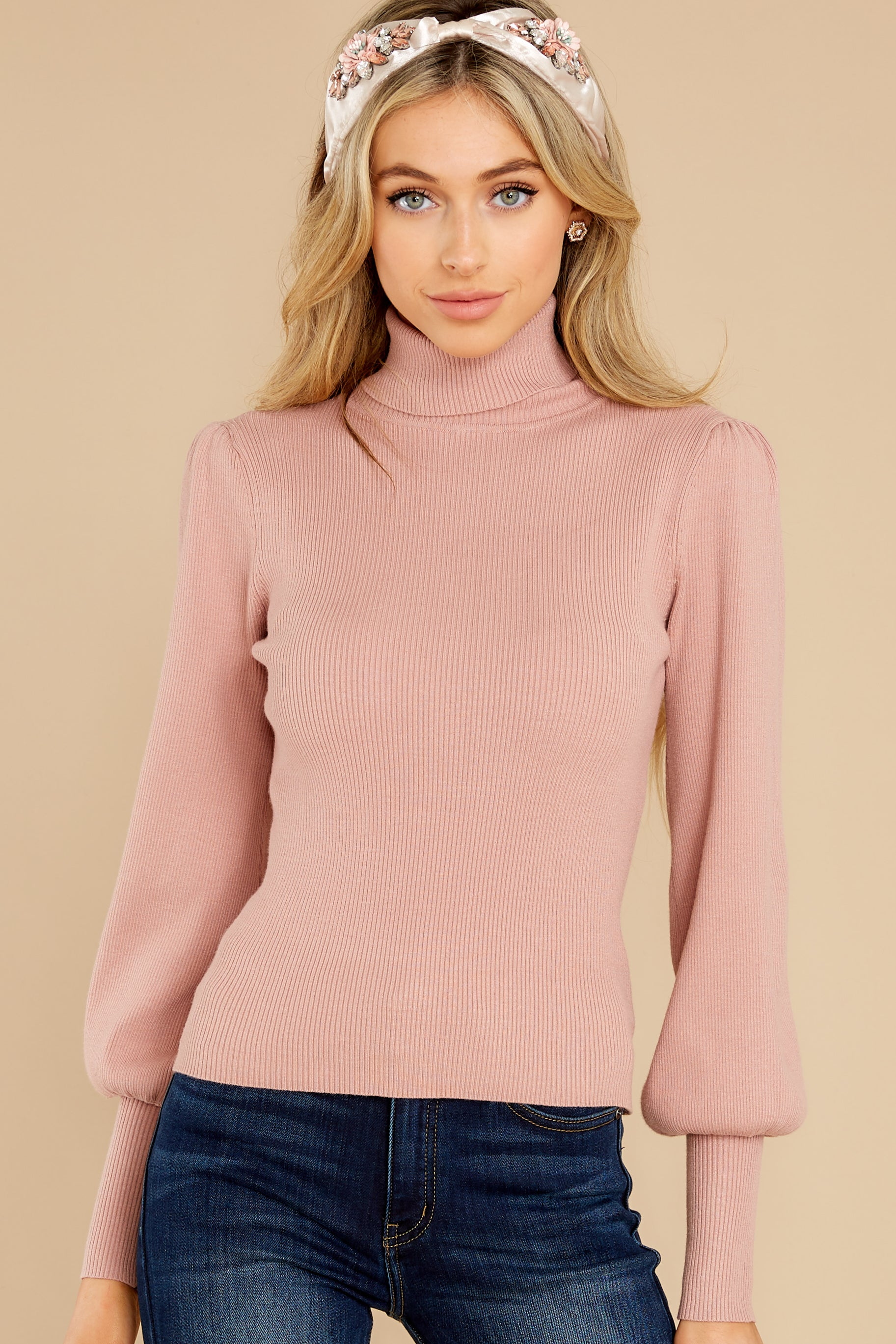 7 Waiting On Forever Mauve Blush Sweater at reddress.com