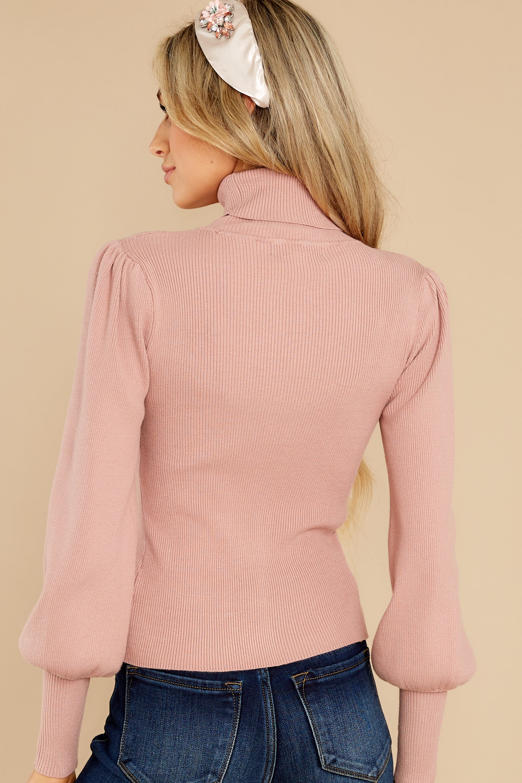 8 Waiting On Forever Mauve Blush Sweater at reddress.com