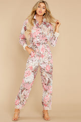 4 Morellia Dew Drops Corduroy Jumpsuit at reddress.com