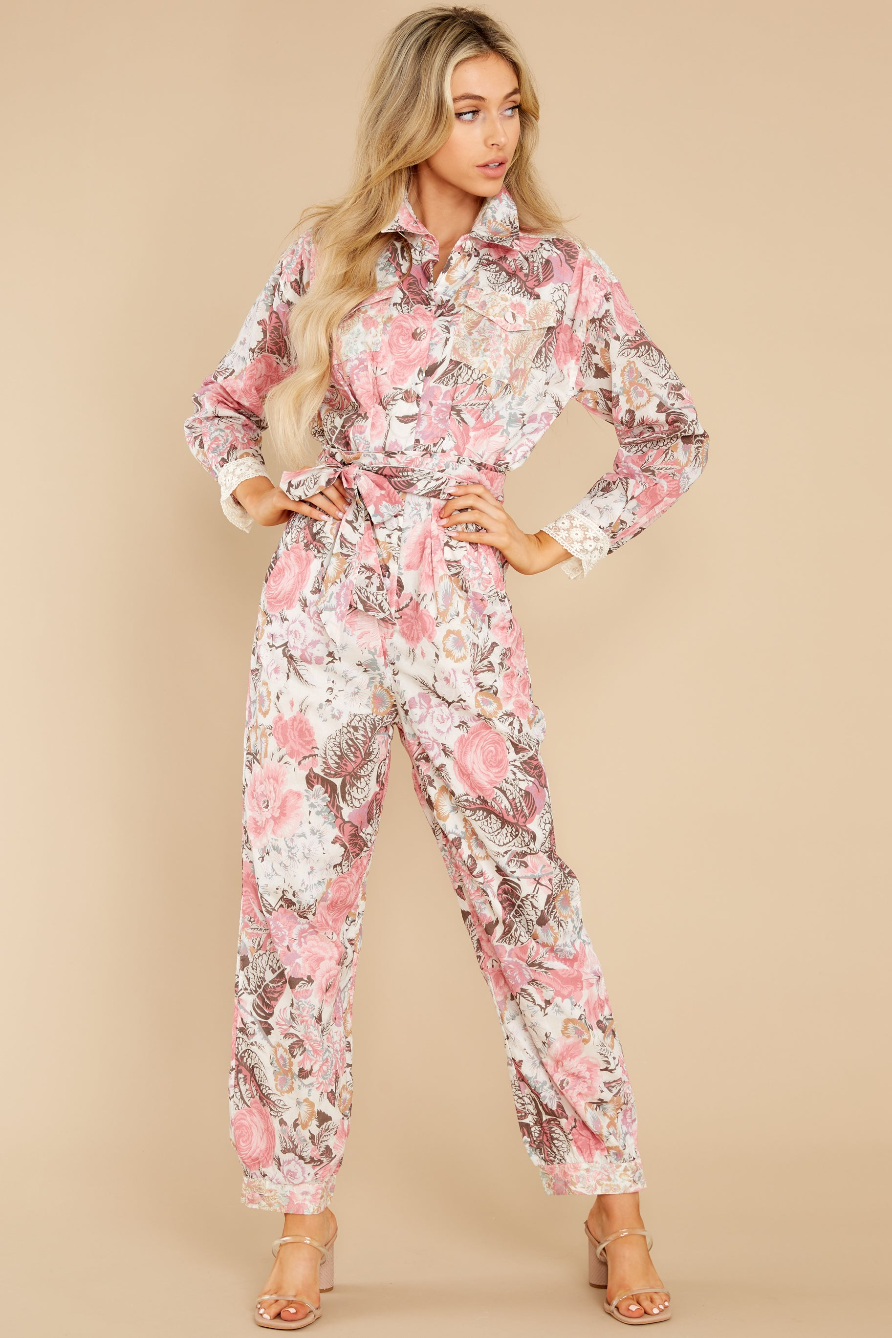 5 Morellia Dew Drops Corduroy Jumpsuit at reddress.com