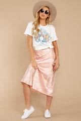 6 Graceful Sway Light Pink Midi Skirt at reddressboutique.com