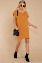1 Anywhere She Goes Light Camel Dress at reddressboutique.com