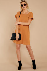 2 Anywhere She Goes Light Camel Dress at reddressboutique.com