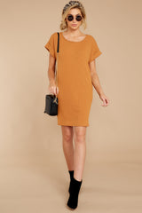 3 Anywhere She Goes Light Camel Dress at reddressboutique.com