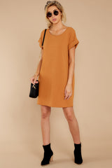 4 Anywhere She Goes Light Camel Dress at reddressboutique.com