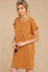 7 Anywhere She Goes Light Camel Dress at reddressboutique.com