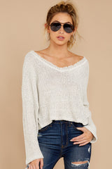 4 Know Your Options Oatmeal Sweater at reddressboutique.com