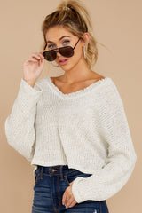 5 Know Your Options Oatmeal Sweater at reddressboutique.com