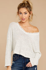 7 Know Your Options Oatmeal Sweater at reddressboutique.com