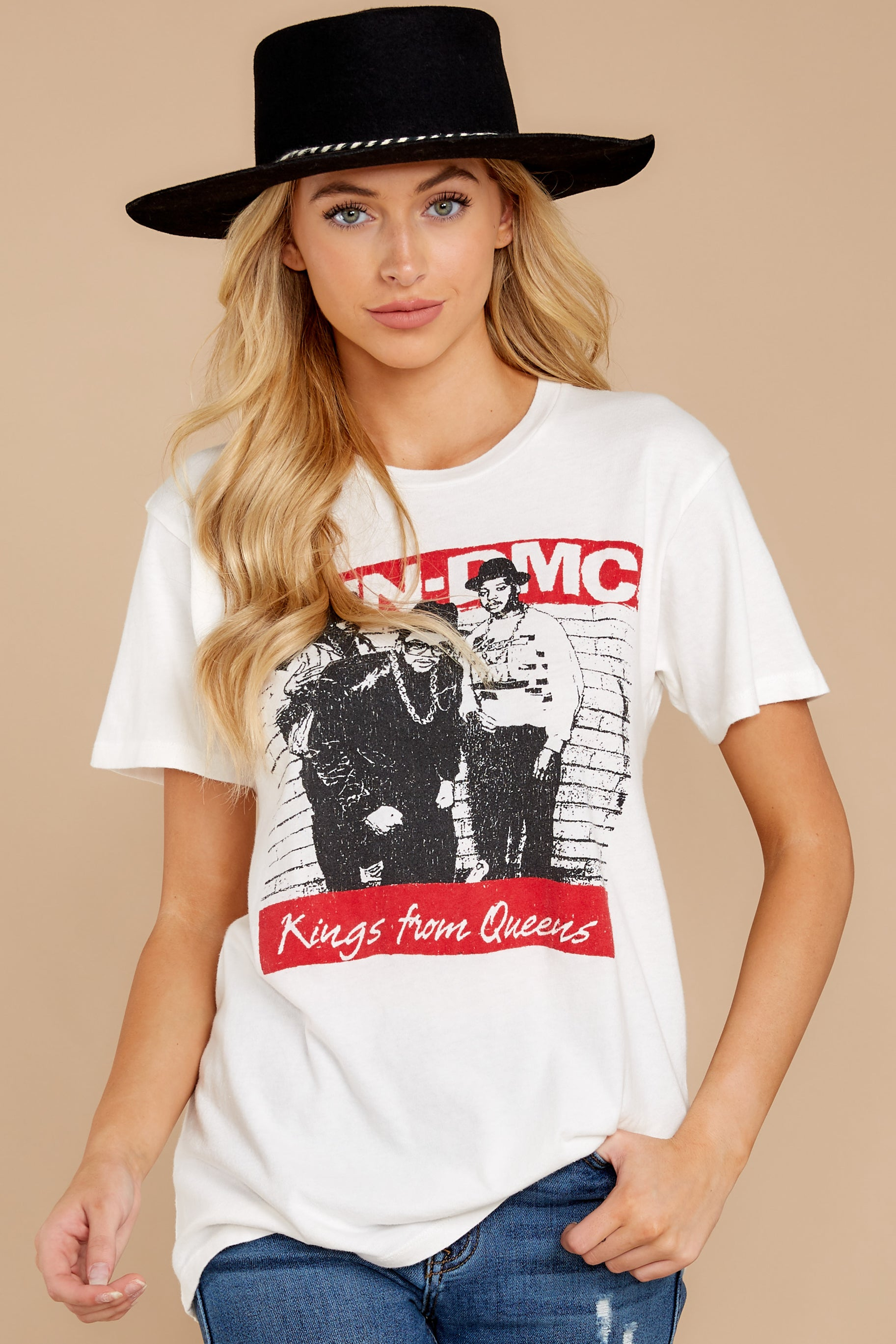 5 Run-DMC Kings From Queens Weekend White Tee at reddressboutique.com