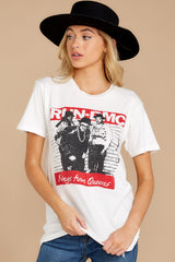 7 Run-DMC Kings From Queens Weekend White Tee at reddressboutique.com
