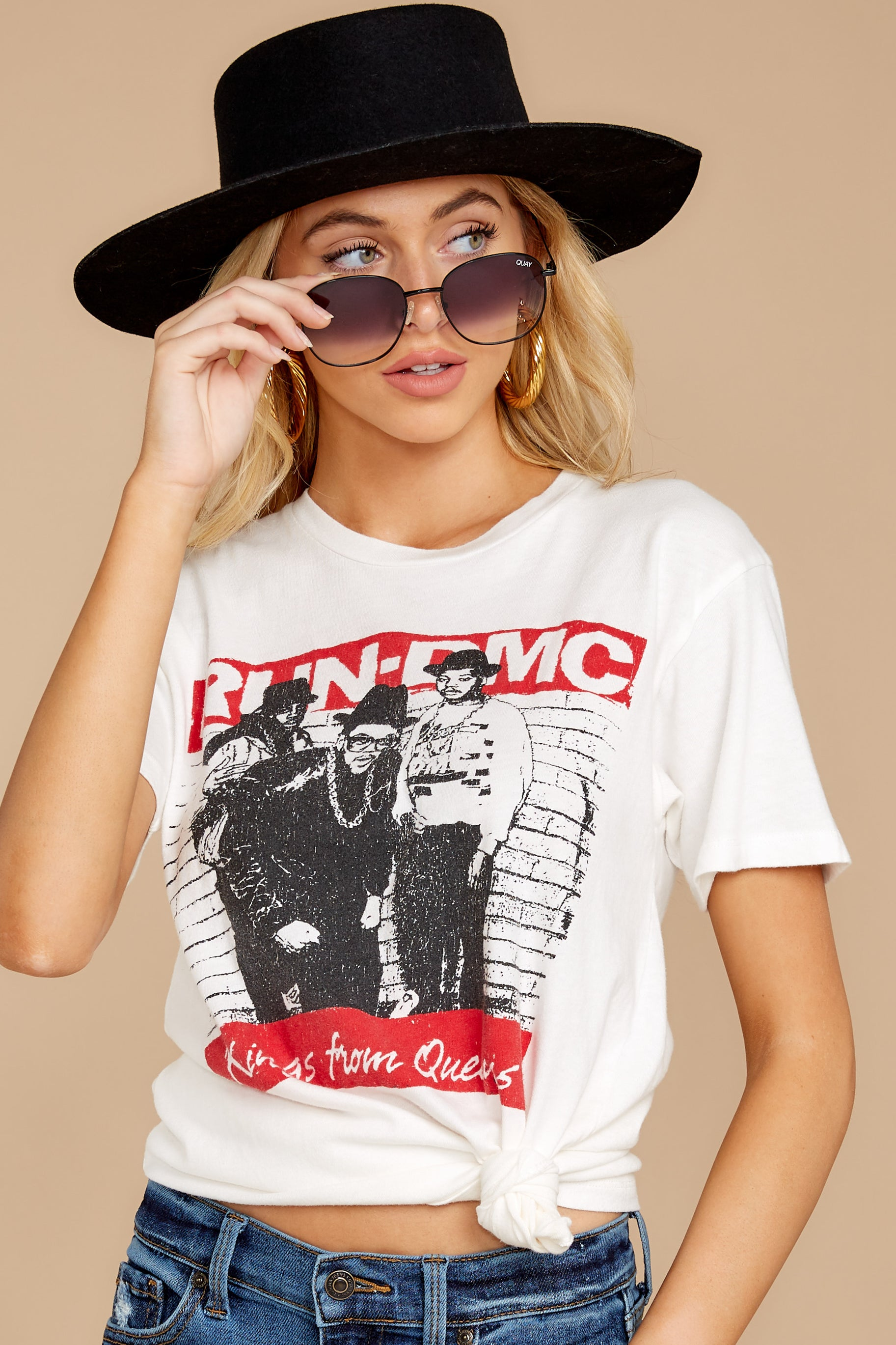 13 Run-DMC Kings From Queens Weekend White Tee at reddressboutique.com