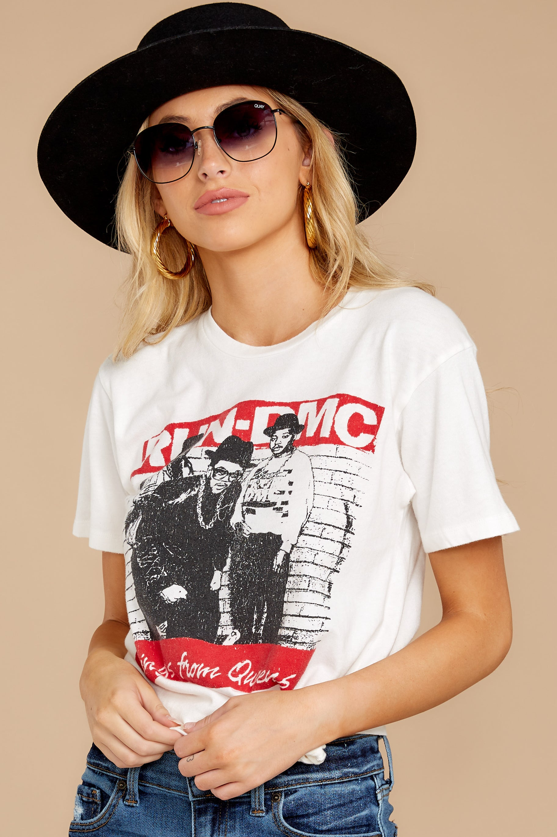 12 Run-DMC Kings From Queens Weekend White Tee at reddress.com