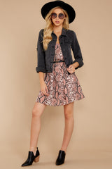 6 Step Off The Plane Faded Black Denim Jacket at reddress.com