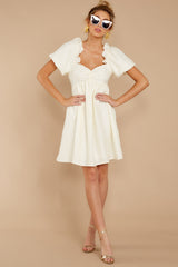 1 Keep On Wishing Ivory Dress at reddressboutique.com