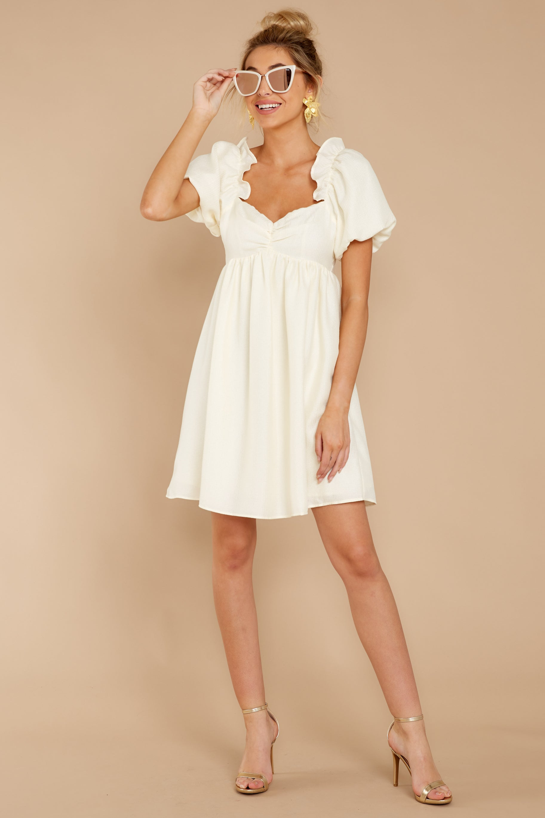 2 Keep On Wishing Ivory Dress at reddressboutique.com