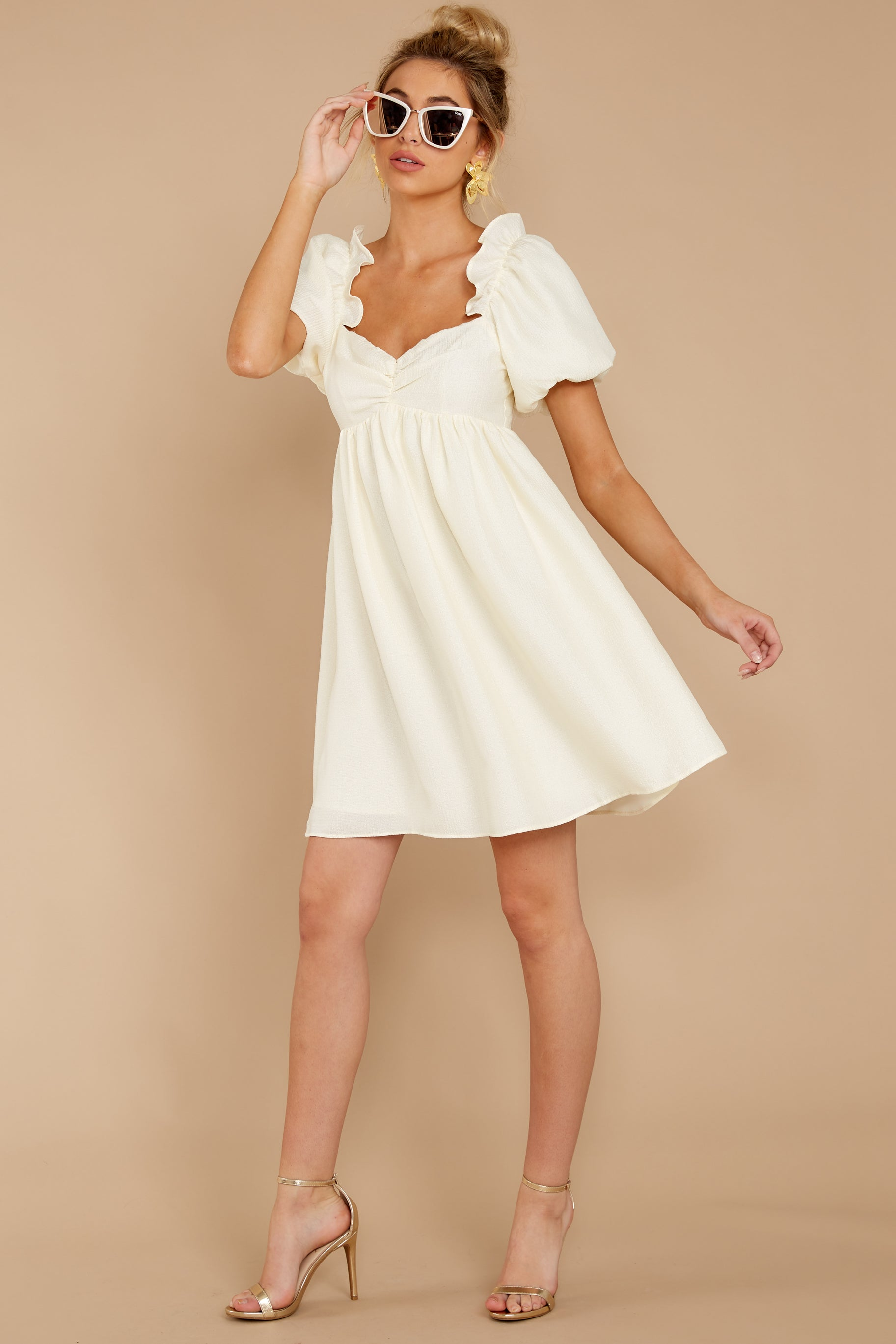 4 Keep On Wishing Ivory Dress at reddressboutique.com