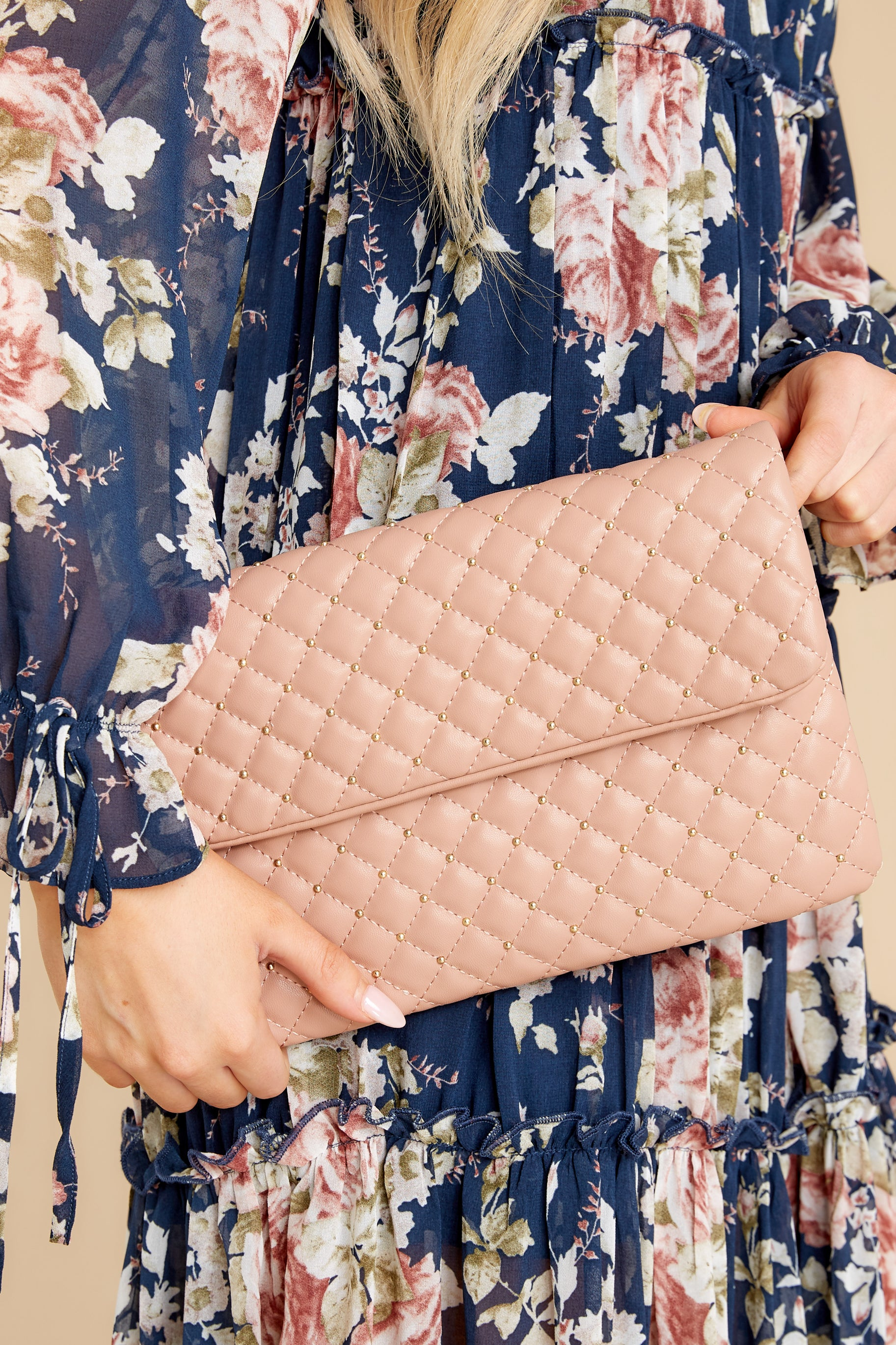My Plus One Mauve Pink Clutch