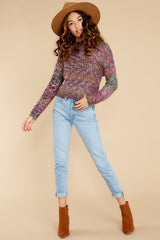 4 Maxine Purple Multi Knit Sweater at reddress.com