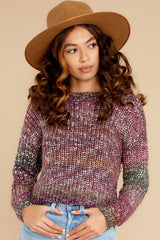 5 Maxine Purple Multi Knit Sweater at reddress.com