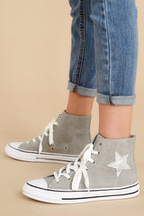 1 Get On Your Level Grey High Top Sneakers at reddress.com