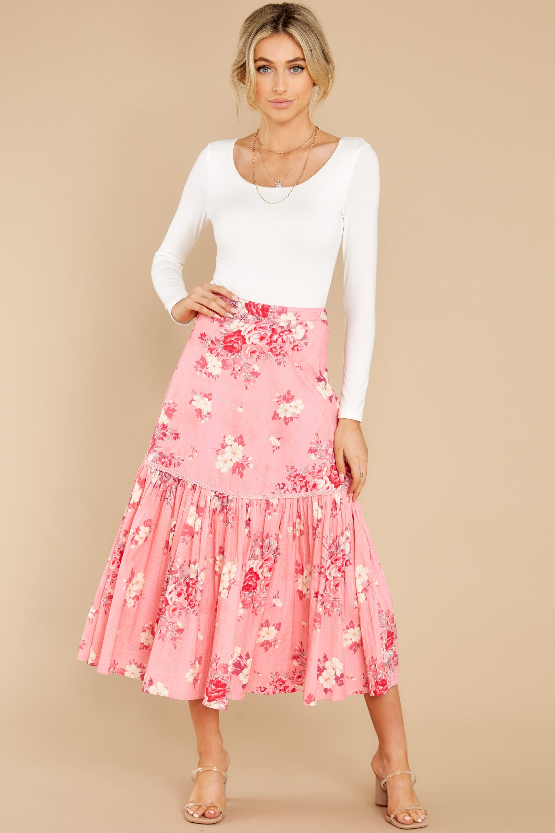 5 Lockwood Raspberry Skirt at reddress.com