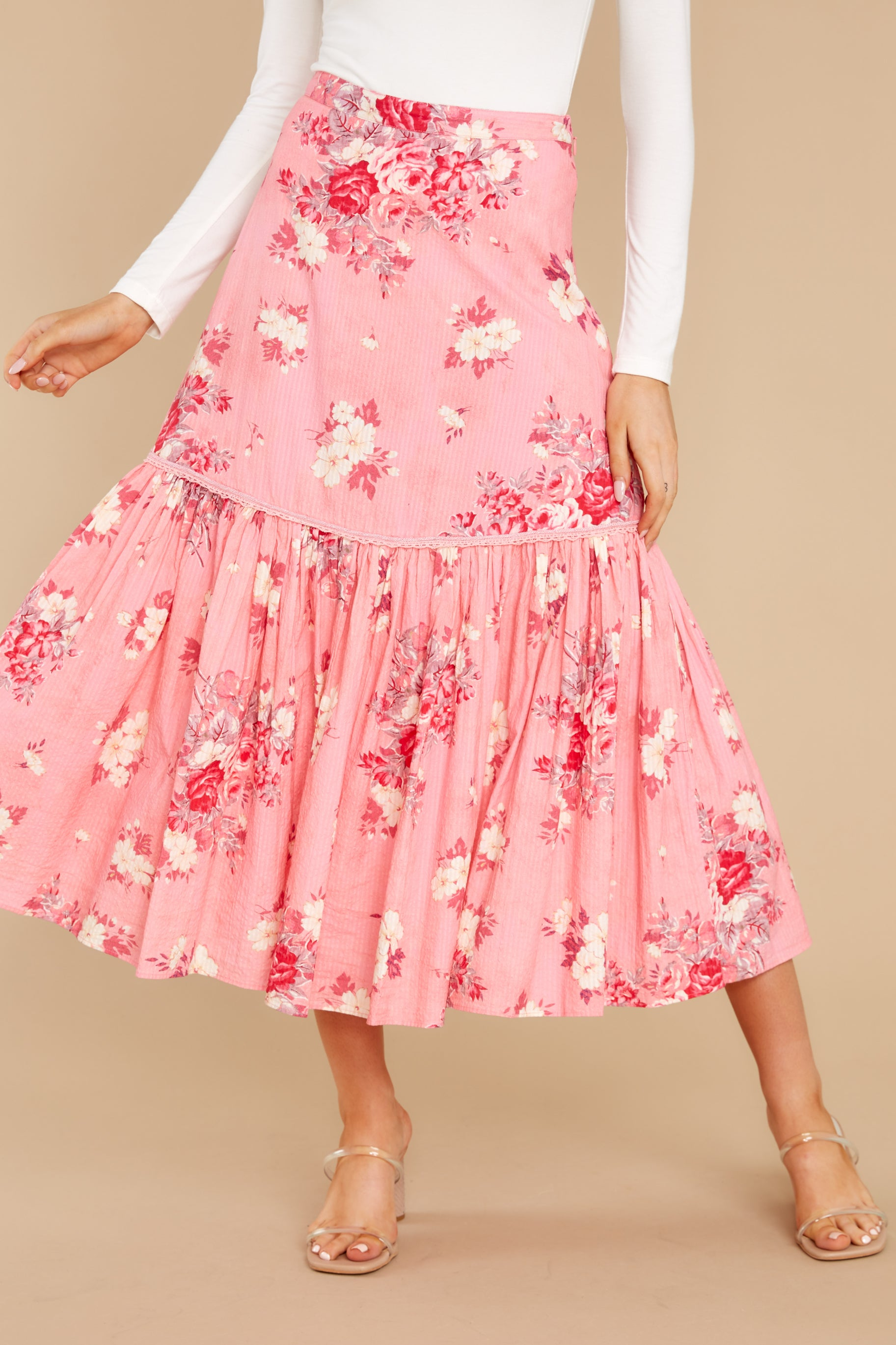1 Lockwood Raspberry Skirt at reddress.com