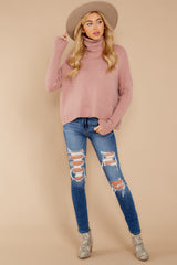 1 Say Anything Dusty Pink Sweater at reddressboutique.com