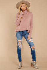 3 Say Anything Dusty Pink Sweater at reddressboutique.com