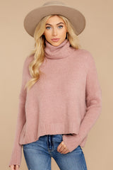 4 Say Anything Dusty Pink Sweater at reddressboutique.com