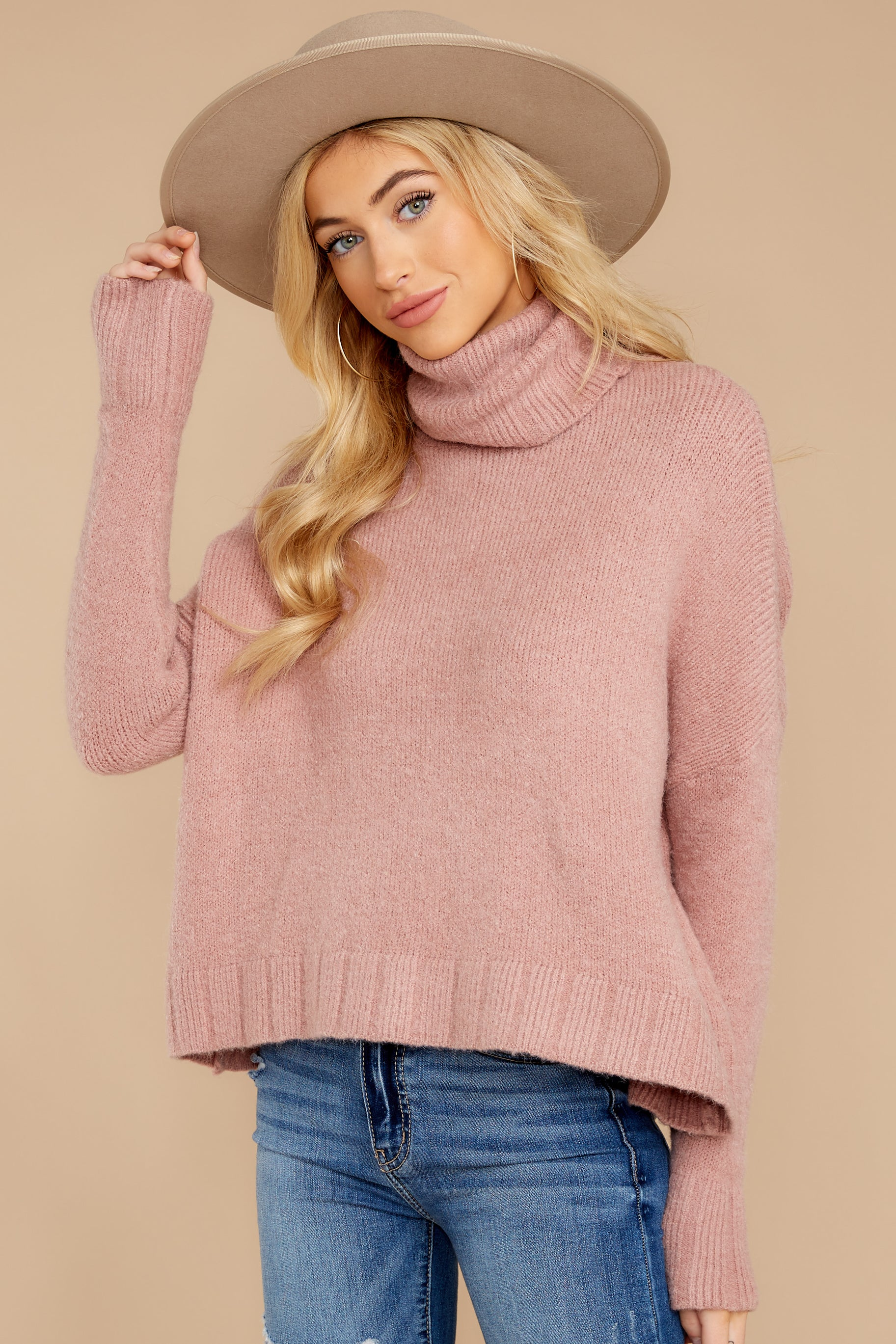 5 Say Anything Dusty Pink Sweater at reddressboutique.com