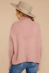 8 Say Anything Dusty Pink Sweater at reddressboutique.com
