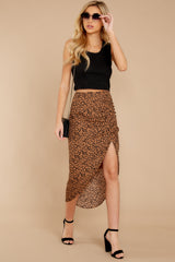 5 In Her Nature Tan Cheetah Print Skirt at reddressboutique.com