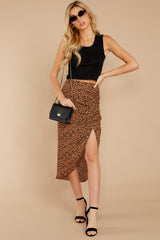 6 In Her Nature Tan Cheetah Print Skirt at reddressboutique.com