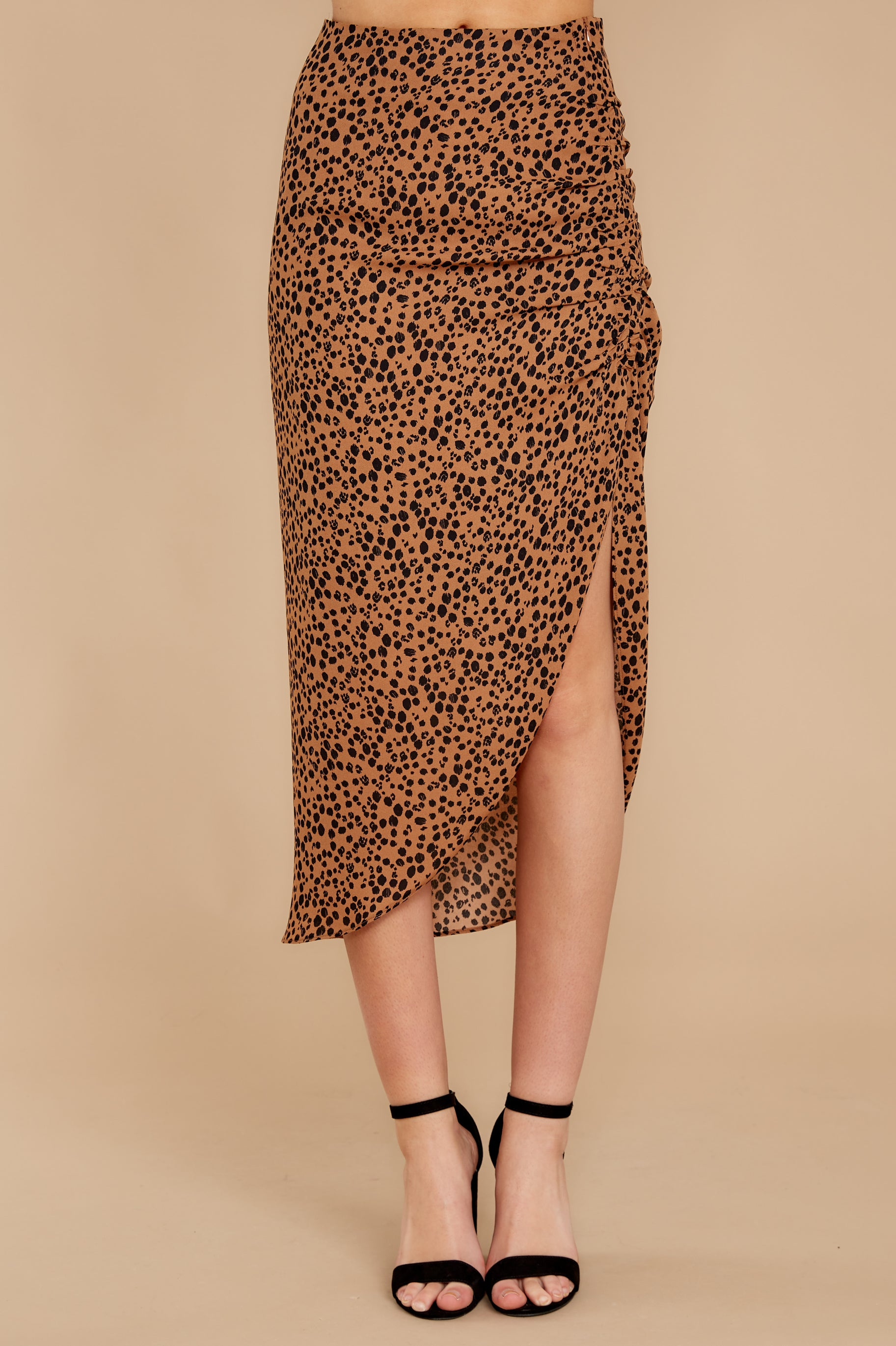 2 In Her Nature Tan Cheetah Print Skirt at reddressboutique.com