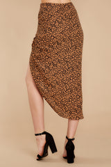 3 In Her Nature Tan Cheetah Print Skirt at reddressboutique.com