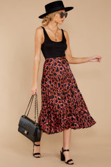 6 Must Have It Pink Multi Leopard Print Midi Skirt at reddressboutique.com